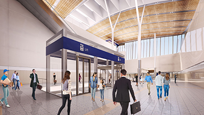Airport Central Station - Concourse and lifts