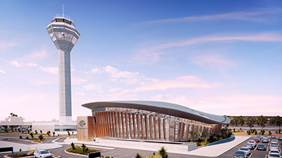 Airport Central Station - External view w tower636317062345663296