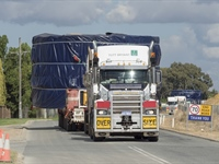 Tunnel boring machine arrives in Perth