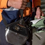 Self rescuer portable oxygen source for use in tunnels