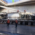 Replacement of screw conveyor in TBM Sandy - July 2019