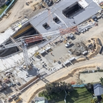 Aerial view of Redcliffe Station - July 2019