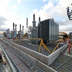 Traction power substation construction - March 2020