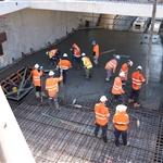 Mezzanine level concrete pour - January 2020