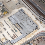 Aerial view of High Wycombe multi-deck car park - October 2020