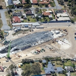 Aerial view of Redcliffe Station - October 2020