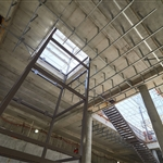 Ceiling fittings at Redcliffe Station platform level - October 2020