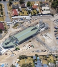 Aerial view of Redcliffe Station - January 2021