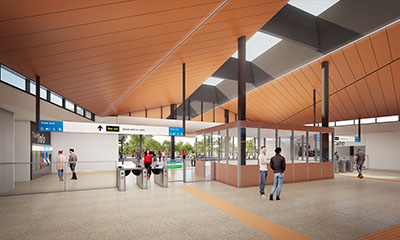 Forrestfield Station - concourse level